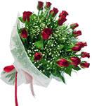 Antalya Melisa internetten çiçek satışı  11 adet kirmizi gül buketi sade ve hos sevenler