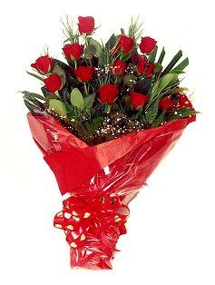 12 adet kirmizi gül buketi  Antalya Melisa çiçekçiler