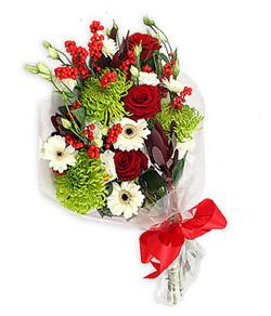 Karisik mevsim buketi çiçek tanzimi  Antalya Melisa internetten çiçek siparişi