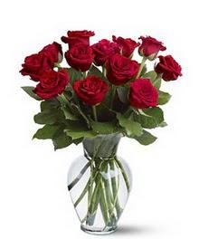 Antalya Melisa çiçek gönderme sitemiz güvenlidir  cam yada mika vazoda 10 kirmizi gül