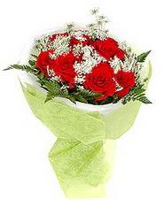 Antalya Melisa çiçek , çiçekçi , çiçekçilik  7 adet kirmizi gül buketi tanzimi