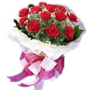 Antalya Melisa çiçek satışı  11 adet kırmızı güllerden buket modeli