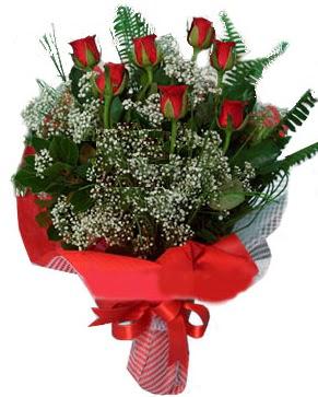 7 kırmızı gül buketi  Antalya Melisa çiçek servisi , çiçekçi adresleri