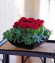 Antalya Melisa çiçek siparişi sitesi  10 adet kare mika yada cam vazoda gül tanzim