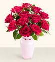 Antalya Melisa hediye çiçek yolla  10 kirmizi gül cam yada mika vazo tanzim