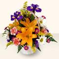 Antalya Melisa 14 şubat sevgililer günü çiçek  sepet içinde karisik çiçekler