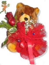 oyuncak ayi ve gül tanzim  Antalya Melisa çiçekçiler