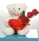 3 adetgül ve oyuncak   Antalya Melisa online çiçekçi , çiçek siparişi