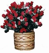 yapay kirmizi güller sepeti   Antalya Melisa kaliteli taze ve ucuz çiçekler
