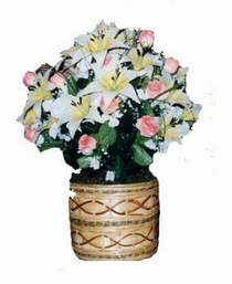 yapay karisik çiçek sepeti   Antalya Melisa çiçek servisi , çiçekçi adresleri