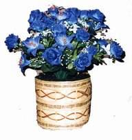 yapay mavi çiçek sepeti  Antalya Melisa cicekciler , cicek siparisi