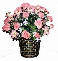 yapay karisik çiçek sepeti  Antalya Melisa çiçek online çiçek siparişi