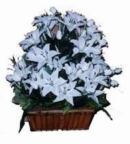 yapay karisik çiçek sepeti   Antalya Melisa online çiçek gönderme sipariş