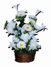 yapay karisik çiçek sepeti  Antalya Melisa çiçek siparişi vermek
