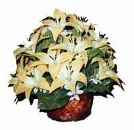 yapay karisik çiçek sepeti   Antalya Melisa çiçek siparişi sitesi