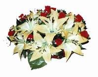 yapay karisik çiçek sepeti   Antalya Melisa internetten çiçek siparişi