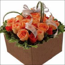 kare sandikta 11 gülllerden   Antalya Melisa çiçekçi mağazası