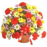 karisik renkli çiçek sepet   Antalya Melisa çiçek gönderme sitemiz güvenlidir