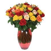 51 adet gül ve kaliteli vazo   Antalya Melisa çiçek gönderme sitemiz güvenlidir