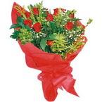 10 adet kirmizi gül buketi  Antalya Melisa çiçek yolla
