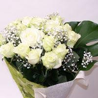 Antalya Melisa hediye çiçek yolla  11 adet sade beyaz gül buketi