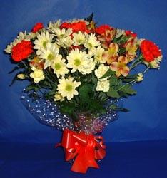 Antalya Melisa hediye çiçek yolla  kir çiçekleri buketi mevsim demeti halinde