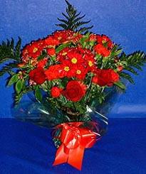 Antalya Melisa hediye çiçek yolla  3 adet kirmizi gül ve kir çiçekleri buketi