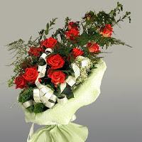 Antalya Melisa ucuz çiçek gönder  11 adet kirmizi gül buketi sade haldedir