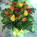 13 adet karisik gül buketi demeti   Antalya Melisa uluslararası çiçek gönderme