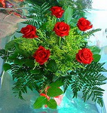 6 adet kirmizi gül buketi   Antalya Melisa online çiçek gönderme sipariş