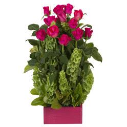 12 adet kirmizi gül aranjmani  Antalya Melisa çiçek mağazası , çiçekçi adresleri