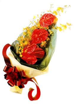 özel 5 adet antorium buketi   Antalya Melisa çiçek gönderme sitemiz güvenlidir