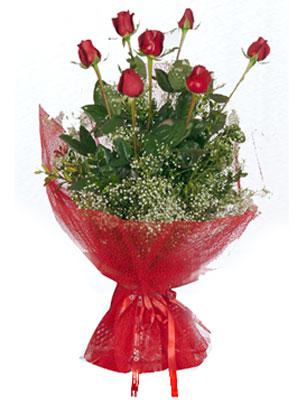 Antalya Melisa çiçek servisi , çiçekçi adresleri  7 adet gülden buket görsel sik sadelik