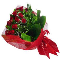Antalya Melisa kaliteli taze ve ucuz çiçekler  12 adet kirmizi essiz gül buketi - SEVENE ÖZEL