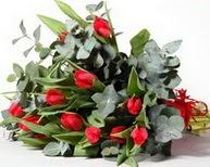 Antalya Melisa çiçek satışı  11 adet kirmizi gül buketi özel günler için