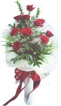 Antalya Melisa hediye çiçek yolla  10 adet kirmizi gülden buket tanzimi özel anlara
