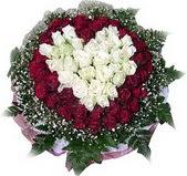 Antalya Melisa çiçek mağazası , çiçekçi adresleri  27 adet kirmizi ve beyaz gül sepet içinde