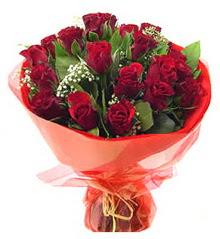 Antalya Melisa anneler günü çiçek yolla  11 adet kimizi gülün ihtisami buket modeli