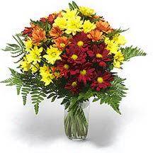 Antalya Melisa çiçek siparişi sitesi  Karisik çiçeklerden mevsim vazosu