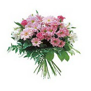 karisik kir çiçek demeti  Antalya Melisa çiçek satışı