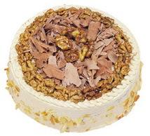 Karamelli 4 ile 6 kisilik yas pasta  Antalya Melisa çiçek yolla