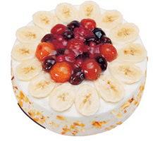 Meyvali 4 ile 6 kisilik yas pasta leziz  Antalya Melisa ucuz çiçek gönder