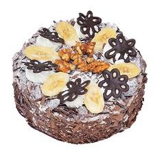 Muzlu çikolatali yas pasta 4 ile 6 kisilik   Antalya Melisa uluslararası çiçek gönderme