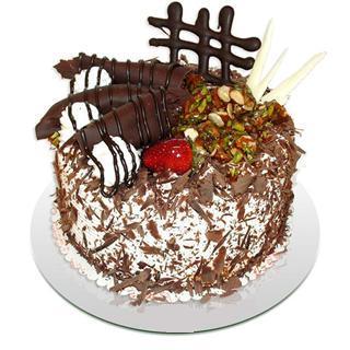 4 ile 6 kisilik çikolatali yas pasta  Antalya Melisa kaliteli taze ve ucuz çiçekler