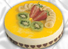 pasta gönderme 4 ile 6 kisilik yas pasta muzlu yaspasta  Antalya Melisa çiçek mağazası , çiçekçi adresleri