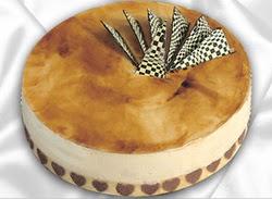 taze pasta 4 ile 6 kisilik yas pasta karamelli yaspasta  Antalya Melisa çiçekçiler
