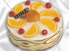 lezzetli pasta satisi 4 ile 6 kisilik yas pasta portakalli pasta  Antalya Melisa çiçekçi mağazası