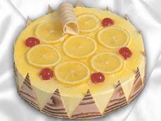 taze pastaci 4 ile 6 kisilik yas pasta limonlu yaspasta  Antalya Melisa online çiçek gönderme sipariş