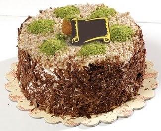 pasta gönderme 4 ile 6 kisilik çikolatali yas pasta  Antalya Melisa çiçek satışı
