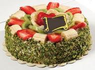 pasta gönder  4 ile 6 kisilik karisik meyvali yas pasta  Antalya Melisa internetten çiçek siparişi